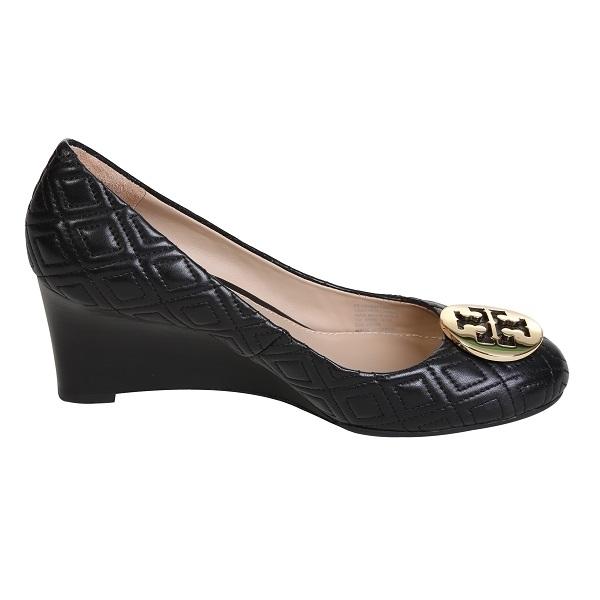 کفش Tory Burch مدل Marion Quilted wedge مشکی سایز 39