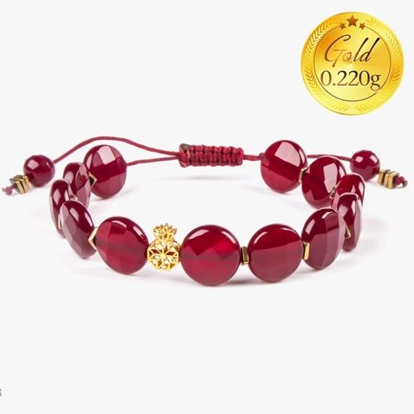 دستبند طلا طرح فیوژن انار | دارای 0.220 گرم طلا