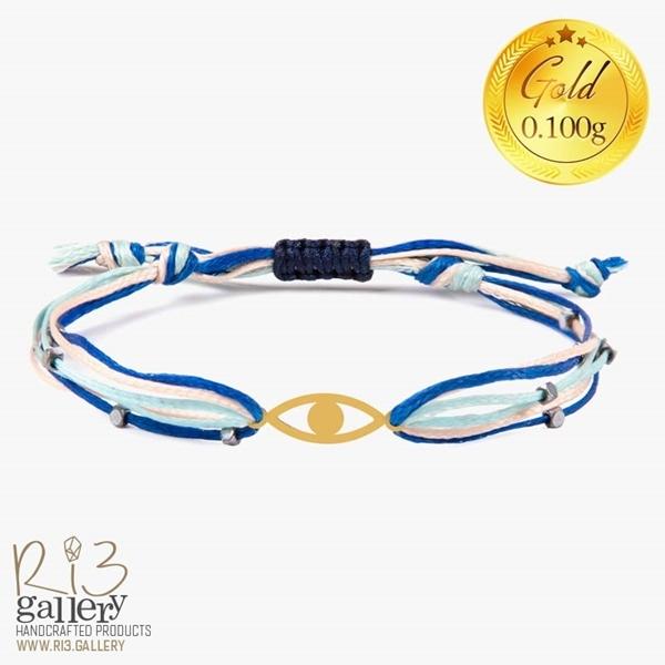 تصویر دستبند چشم طلا | دارای 0.100 گرم طلا